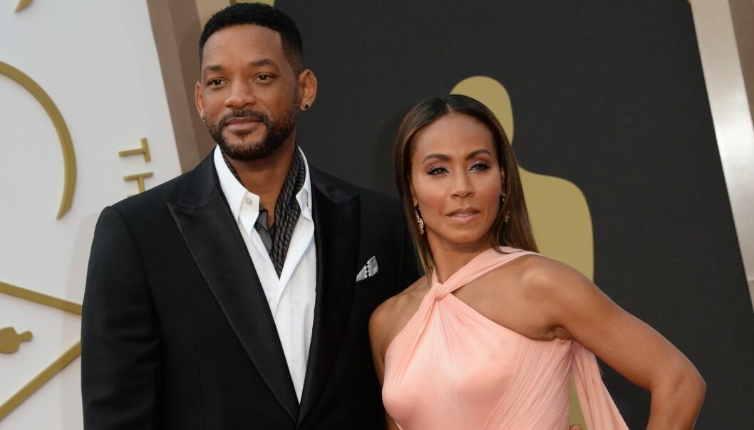 VILLE PÅSTANDER: En amerikansk rapper hevder at han har hatt en affære med Jada Pinkett Smith, og at Will Smith i sin tid godkjente dette. Foto: AFP/ NTB Scanpix