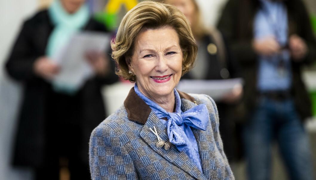 <strong>FEIRING:</strong> I dag 4. juli fyller dronning Sonja 83 år. Dermed er det nå duket for feiring for kongefamilien. Foto: NTB Scanpix