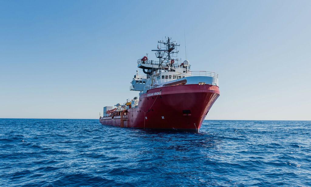 ASSISTANSE: Ocean Viking har bedt om assistanse. FOTO: Flavio Gasperini/SOS Méditerranée via AP/NTB scanpix