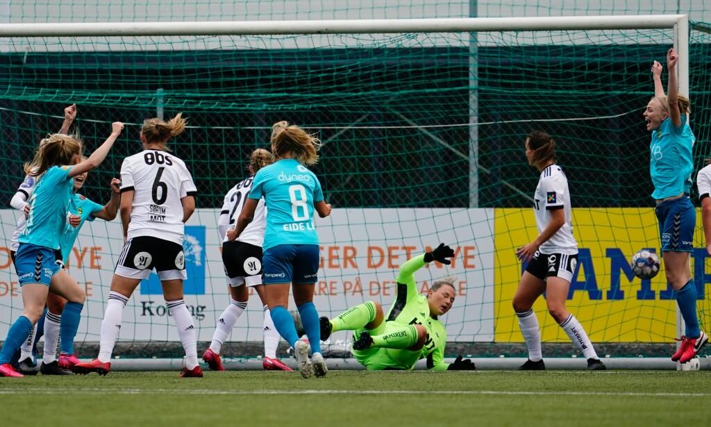 0-1: Lillestrøm tok ledelsen, men klarte ikke å slå Rosenborg. Foto: Ole Martin Wold / NTB scanpix