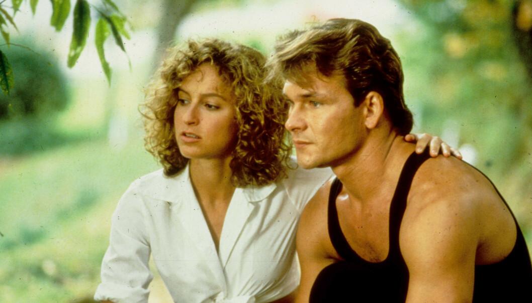 KJENTE FJES: Jennifer Grey og Patrick Swayze spilte nyforelsket kjærestepar i dansefilmen «Dirty Dancing» fra 1987. Nå skal førstnevnte skilles. Foto: NTB scanpix