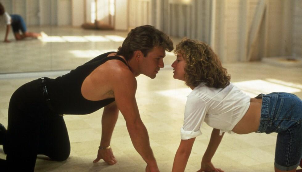 SKILLES: «Dirty Dancing»-stjernen Jennifer Grey skal skilles fra ektemannen Clark Gregg - etter 19 års ekteskap. Her er hun i kjent positur med motspilleren Patrick Swazye. Foto: NTB Scanpix