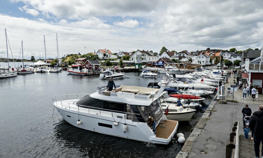 FÆRRE BÅTER: Når kommunens regler overholdes, får gjestehavna i Stavern knapt plass til halvparten av båtene de egentlig har kapasitet til. Foto: Bjørn Langsem / Dagbladet