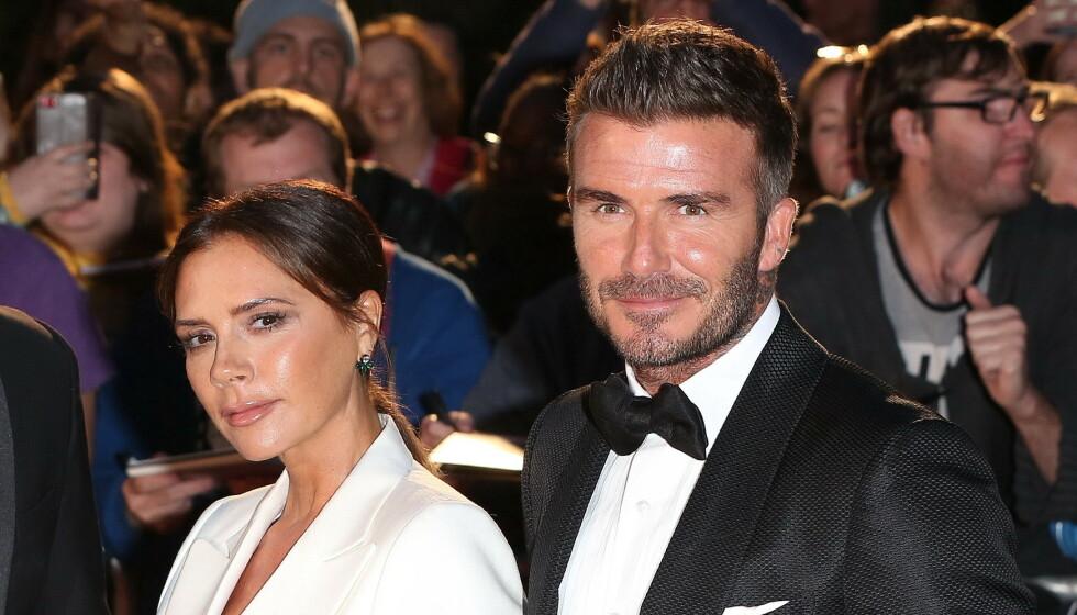 21 ÅR: David og Victoria Beckham feirer denne helgen 21 år bryllupsdag. Det gjør de ved å hylle hverandre på Instagram. Foto: NTB Scanpix