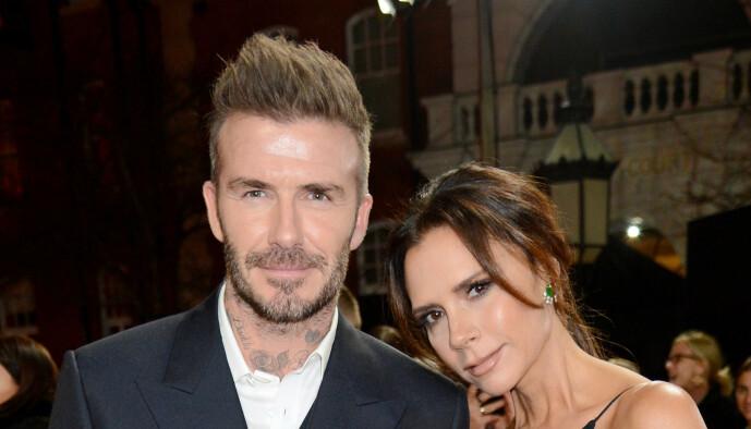 <strong>«GOLDENBALLS»:</strong> Beckham fikk kallenavnet «Goldenballs» av kona Victoria Beckham i 2001. Nå kan han muligens leve ordentlig opp til navnet. Her er ekteparet avbildet i 2018. Foto: NTB Scanpix