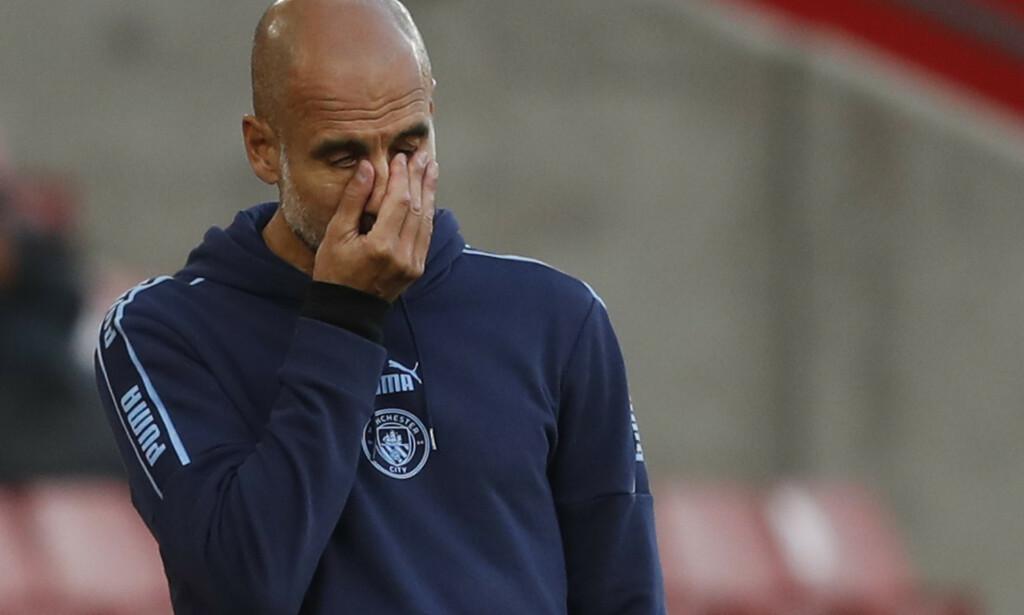 TAP: Manchester City gikk på et overraskende tap mot Southampton. Foto: Frank Augstein / Pool via REUTERS / NTB Scanpix