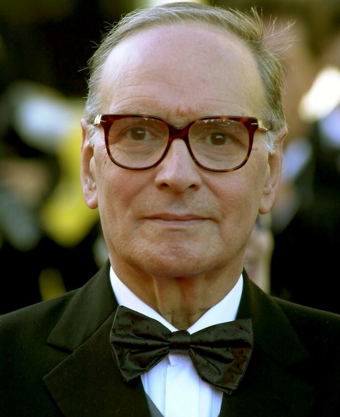 GIKK BORT: Ennio Morricone gikk bort 91 år gammel. Her avbildet under filmfestivalen i Cannes i 2002. Foto: NTB Scanpix