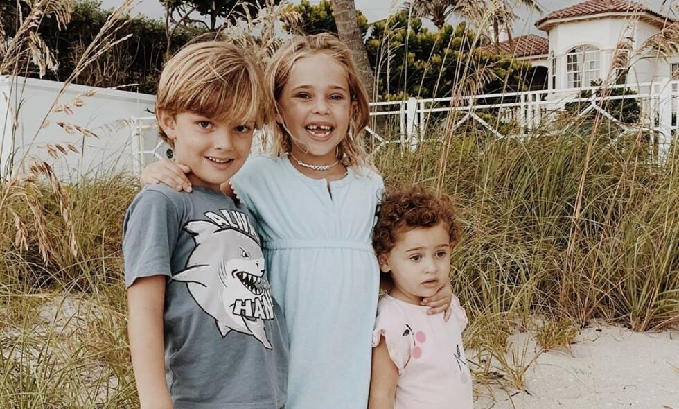 4TH OF JULY: En rekke kjendiser feiret denne helga den amerikanske nasjonaldagen, som i år ble noe annerledes enn tidligere. Blant dem var prinsesse Madeleine av Sverige som delte bilder av barna fra nasjonaldagen i Florida. Foto: Prinsesse Madeleine / Instagram