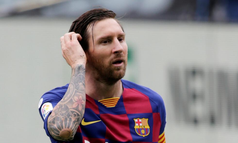 HVA NÅ? Lionel Messi har vært i Barcelona gjennom hele karrieren. Nå går det masse rykter om framtida. Foto: NTB Scanpix