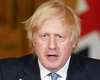 """A handout image released by 10 Downing Street, shows Britain's Prime Minister Boris Johnson attending a remote press conference to update the nation on the novel coronavirus COVID-19 pandemic, inside 10 Downing Street in central London on July 3, 2020. (Photo by Pippa FOWLES / 10 Downing Street / AFP) / RESTRICTED TO EDITORIAL USE - MANDATORY CREDIT """"AFP PHOTO / 10 DOWNING STREET / PIPPA FOWLES """" - NO MARKETING - NO ADVERTISING CAMPAIGNS - DISTRIBUTED AS A SERVICE TO CLIENTS"""