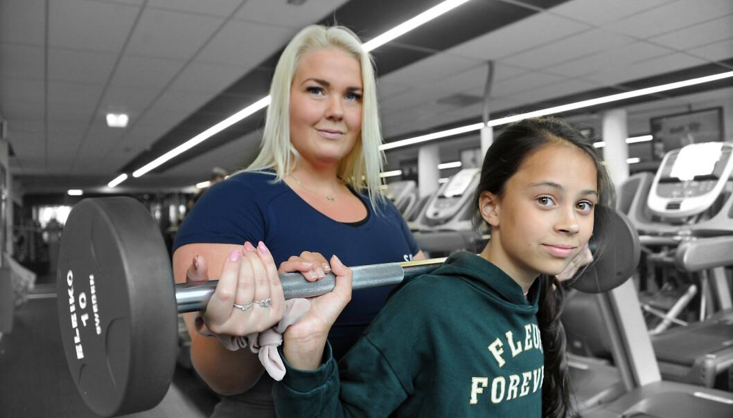 STYRKE: Å trene styrke for barn er ikke skadelig om det gjøres på riktig måte, mener Lena. FOTO: Marianne Otterdahl-Jensen