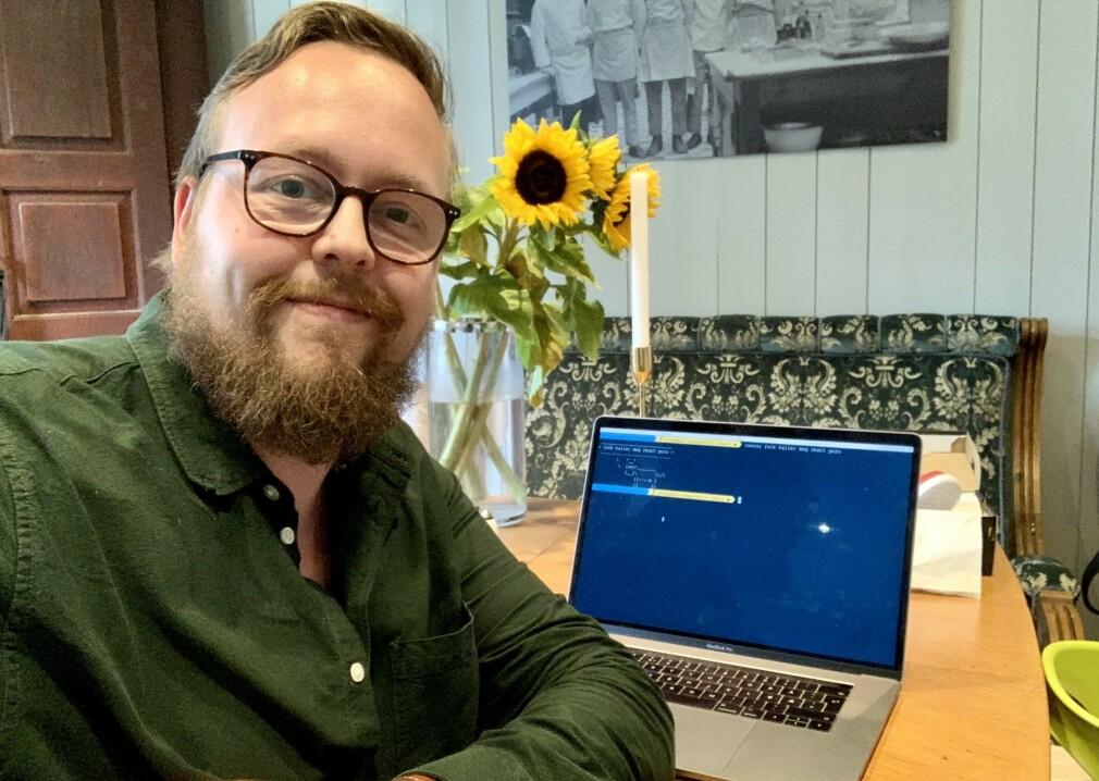 Kristofer Giltvedt Selbekk jobber til vanlig som seniorkonsulent i Bekk. 📸 Privat