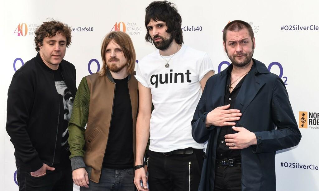 Populært band: Ian Matthews, Chris Edwards, Sergio Pizzorno og Tom Meighan i Kasabian. Foto: Roger Goodgroves/REX/NTB Scanpix.