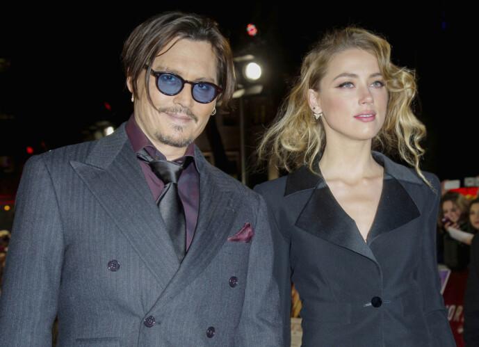 SKILT: Amber Heard og Johnny Depp skilte lag i 2017, men nå møtes de igjen - i retten. Foto: NTB Scanpix