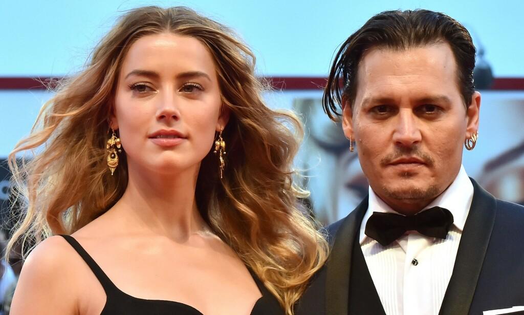 OPPSTYR: Eksparet Johnny Depp og Amber Heard har krangla så busta fyker de siste fire åra, og det ser ikke ut til at de gir seg med det første. Foto: NTB Scanpix