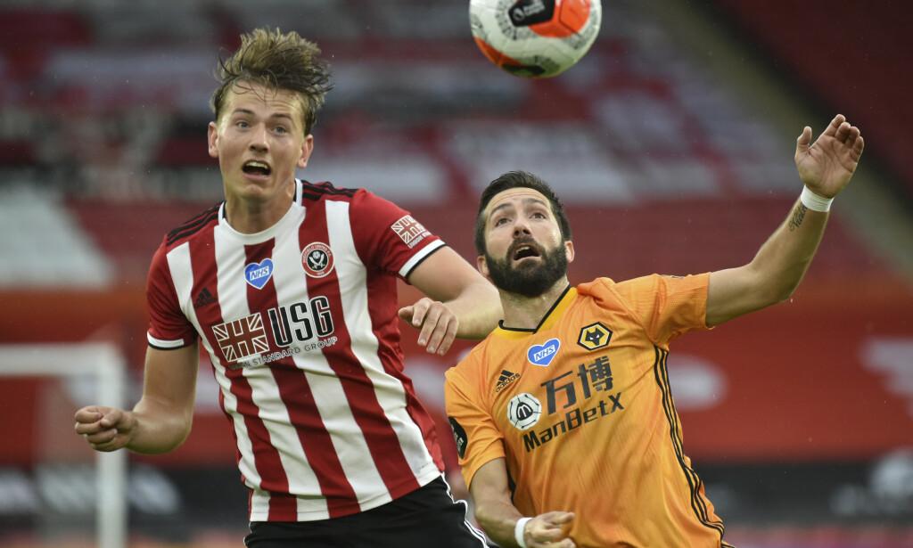 VANT: Sander Berge og Sheffield United tok seieren på overtid. Foto: Rui Vieira / Pool via AP / NTB Scanpix