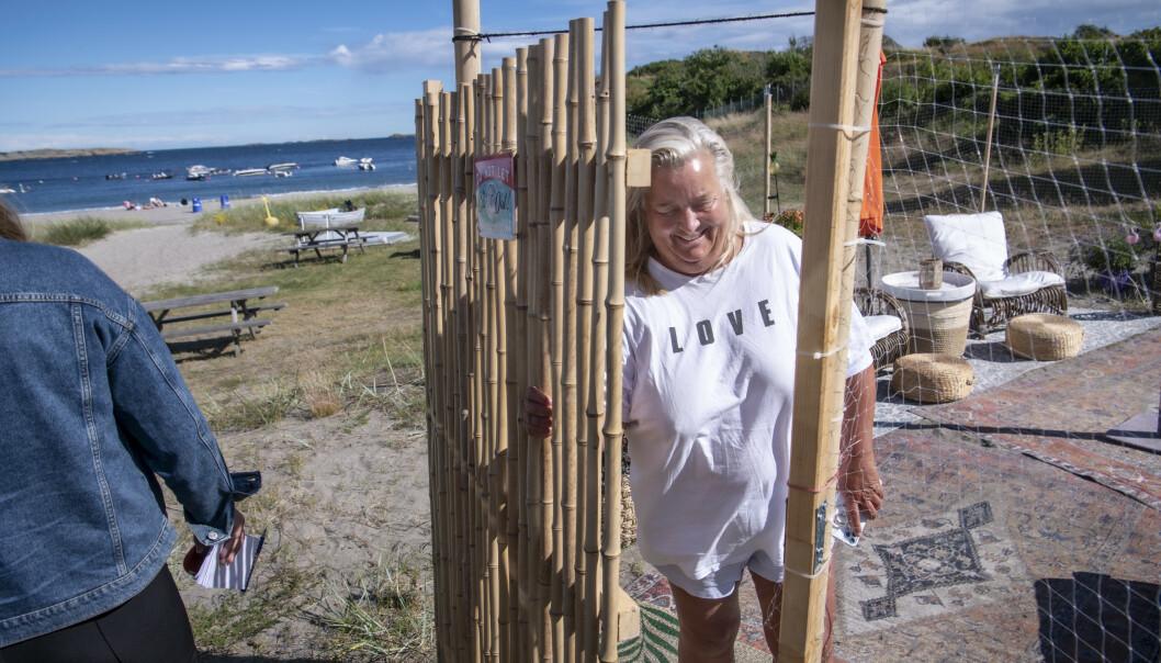 FERIE: Avnung er alene om å «glampe» på campingplassen i Larvik. Foto: Lars Eivind Bones / Dagbladet.