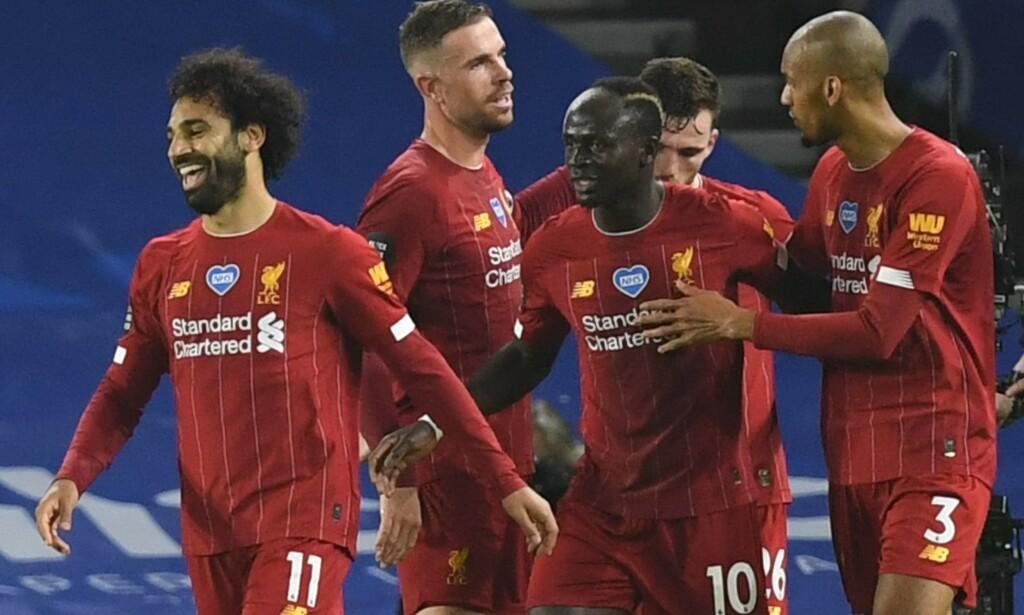 VANT: Liverpool slo Brighton ganske komfortabelt. Foto: DANIEL LEAL-OLIVAS / POOL / AFP / NTB Scanpix