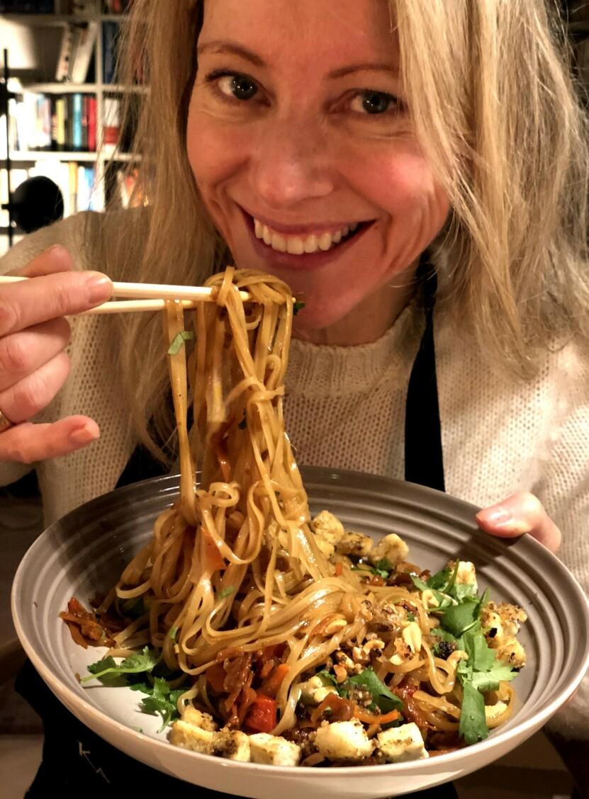 TENK NYTT: Dét er oppfordringen fra matredaktør og veganer Laila Madsö. FOTO: Privat