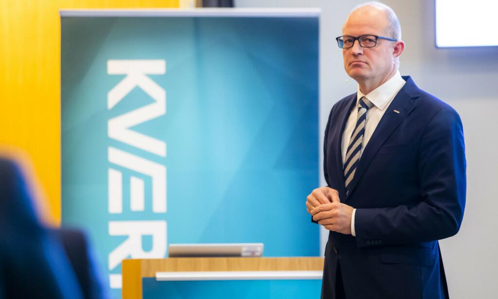 OPTIMIST: Konsernsjef Karl-Petter Løken i Kværner er optimistisk for fremtiden og tror selskapet kan nyte godt av krisepakken for oljebransjen.  Foto: Håkon Mosvold Larsen / NTB scanpix