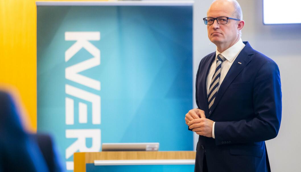 <strong>OPTIMIST:</strong> Konsernsjef Karl-Petter Løken i Kværner er optimistisk for fremtiden og tror selskapet kan nyte godt av krisepakken for oljebransjen.  Foto: Håkon Mosvold Larsen / NTB scanpix