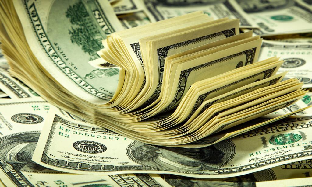 ØKER: Antallet norske dollarmillionærer økte i 2019 til 182 000 personer. Illustrasjonsfoto: Shutterstock / NTB Scanpix