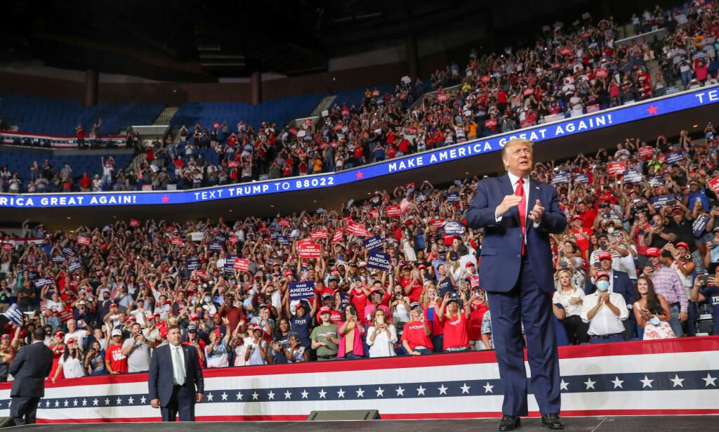 FÅ MØTTE OPP: Drøyt 6000 personer møtte opp på Donald Trumps folkemøte i Tulsa i Oklahoma i juni. Arenaen hadde plass til 19 000. Foto: REUTERS/Leah Millis/File Photo