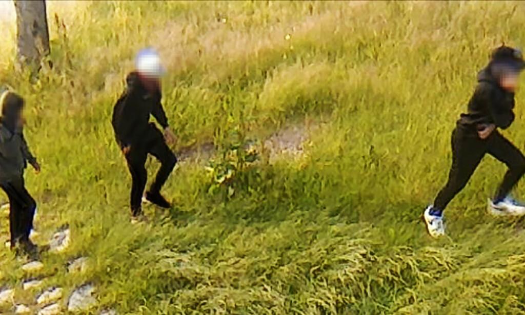 FANGET OPP: Politiet mener disse tre personene står bak ranet av to 12 år gamle gutter 1. juli. Foto: Politiet