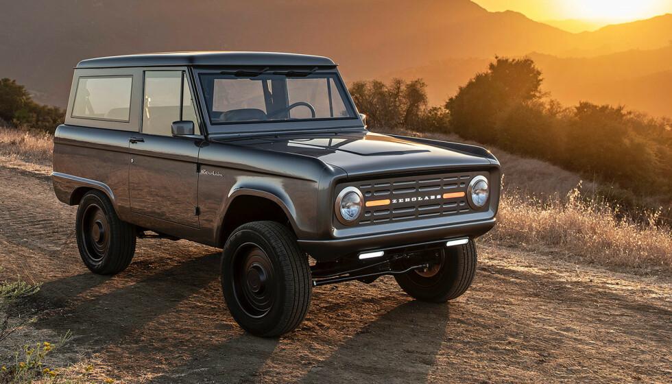 REDEFINERT: Slik ser det ut når Zero Labs redefinerer det som en gang var en gammel Ford Bronco. Foto: Zero Labs