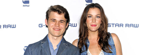 Mandatory Credit: Photo by Henry Lamb/Photowire/BEI/REX (1225028ai) Magnus Carlsen and Liv Tyler G-Star Raw Show Spring 2011, Mercedes-Benz Fashion Week, New York, America - 14 Sep 2010
