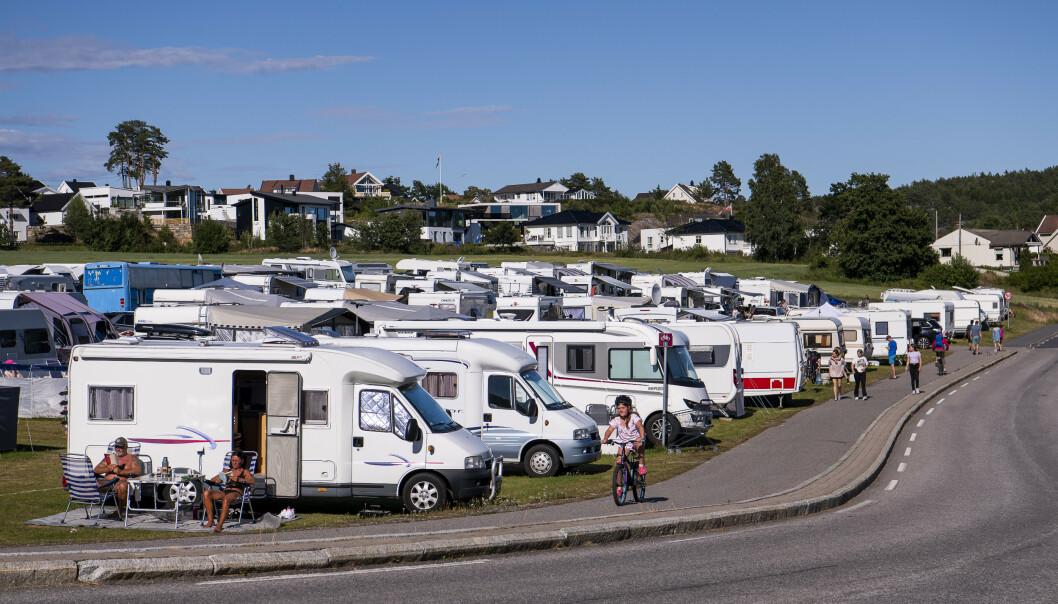 FULLT: Tingsaker camping i Lillesand kommune er bare en av mange campinger er fullbooka denne sommeren. Foto: Lars Eivind Bones / Dagbladet.
