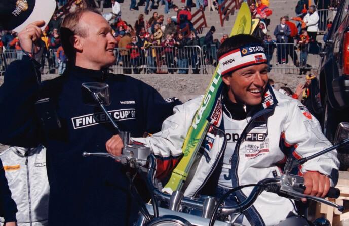 <strong>VENNER:</strong> Tom Stiansen (t.h.) sier til Dagbladet at han snakket med «Finken» ikke mange dagene før han døde - som følge av akutt sykdom. Her er de to avbildet sammen i 1997. Foto: Ole Berg-Rusten/ NTB scanpix