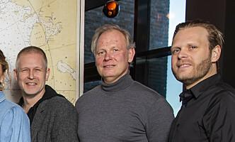 Produsent Espen Horn (i midten), her i forbindelse med filmen «Amundsen». Foto: Håkon Mosvold Larsen / NTB scanpix