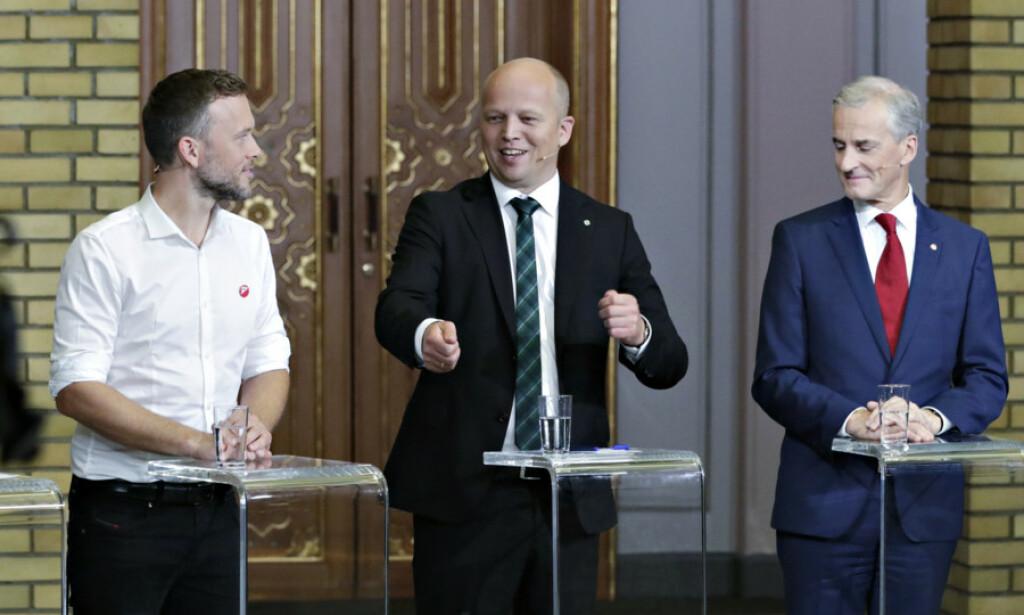 RENT FLERTALL: Disse kunne dannet flertallsregjering i dag, ifølge en ny meningsmåling. Foto: Bjørn Langsem / Dagbladet