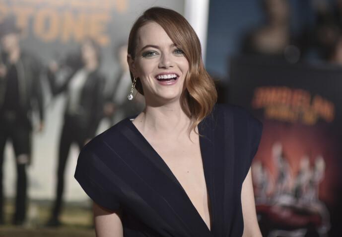 BLE BEDT OM Å BYTTE: Hollywood-stjernen Emma Stone har tidligere avslørt at hun som 16-åring ble bedt om å bytte navn. Foto: NTB Scanpix