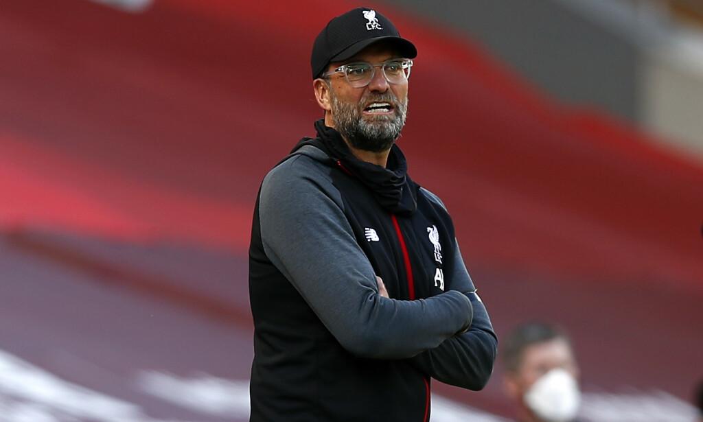 UAVGJORT: Jürgen Klopp og Liverpool gikk på poengtap mot Burnley. Foto: NTB Scanpix