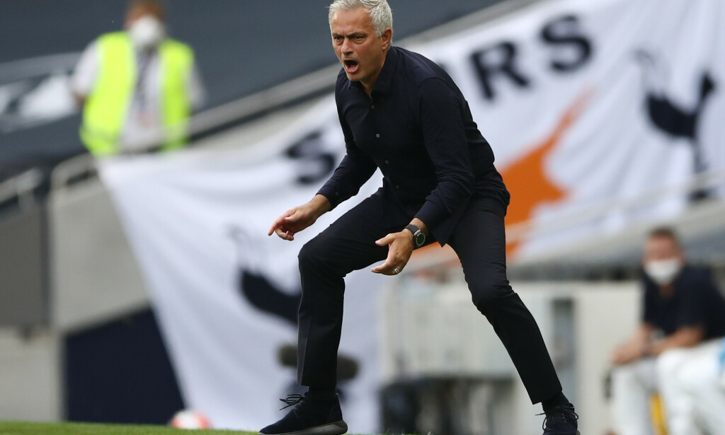 VANT: José Mourinho og Tottenham vant London-derbyet. Foto: Tim Goode / Pool via REUTERS / NTB Scanpix