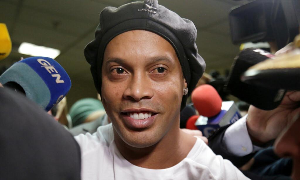 HUSARREST: Ronaldinho er om dagen i husarrest på et hotell i Paraguay. Foto: REUTERS / Jorge Adorno / File Photo / NTB Scanpix