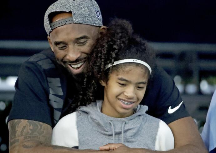 Kobe Brynt med datteren Gianna. FOTO: Scanpix