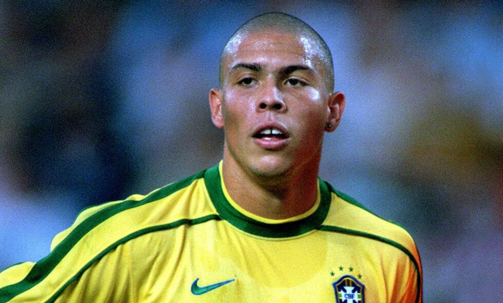 STJERNE: Ronaldo skulle lede Brasil til gull i 1998. Slik ble det ikke. Foto: Colorsport /REX (3076766a) / NTB Scanpix