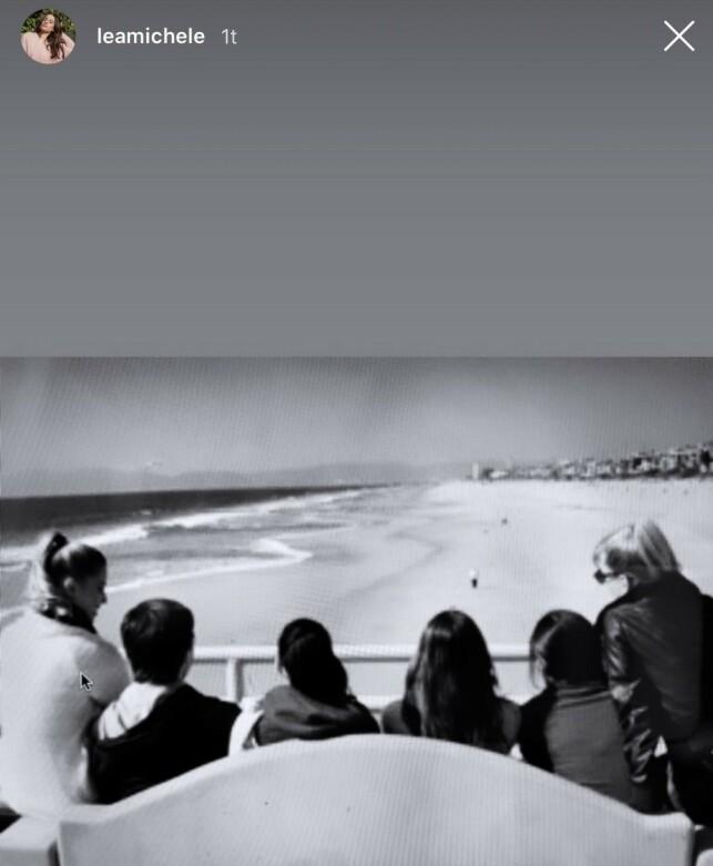 GJENGEN: Lea Michele delte dette bildet av kollegene fra serien. Foto: Skjermdump Instagram