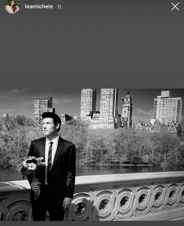 13. JULI: Cory Monteith og Lea Michele var forlovet da han døde. Foto: Skjermdump Instagram