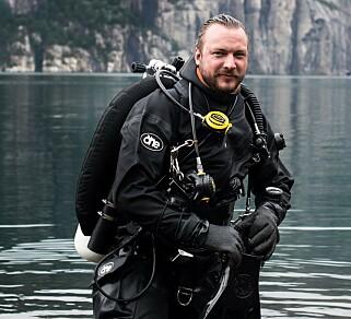 MARINBIOLOG: Fredrik Myhre er grunnlegger av Hjelp Havets Haier. Foto: Monica Larsen