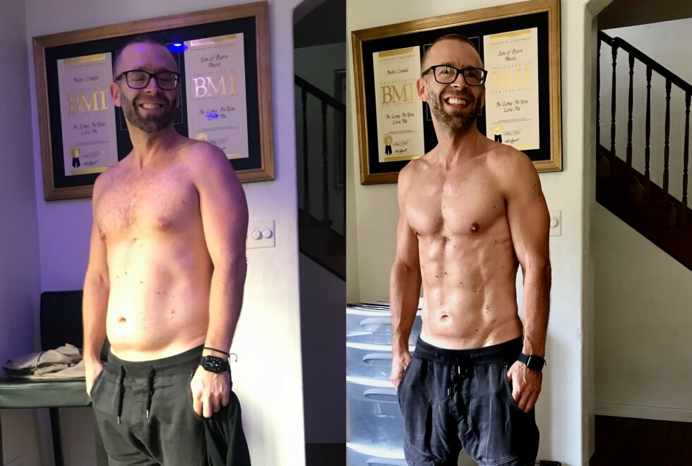 STOR ENDRING: Under fire måneder skiller disse to bildene. Foto: Privat