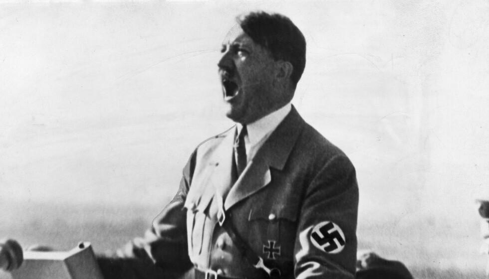 HØY UNDER TORDENTALENE: Adolf Hitler var full av blant annet det narkotiske stoffet metamfetamin under sine mange tordentaler. Her er han fotografert i 1940. Foto: REX NTB Scanpix