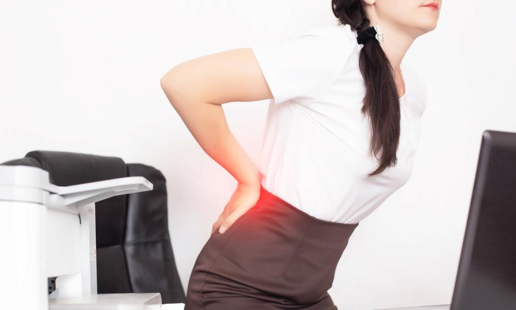 SMERTER: Årsaken til artrose er ukjent, men det er vist at faktorer som alder, arv og overvekt spiller inn. I tillegg har kvinner oftere enn menn mer symptomgivende artrose.Foto: NTB scanpix