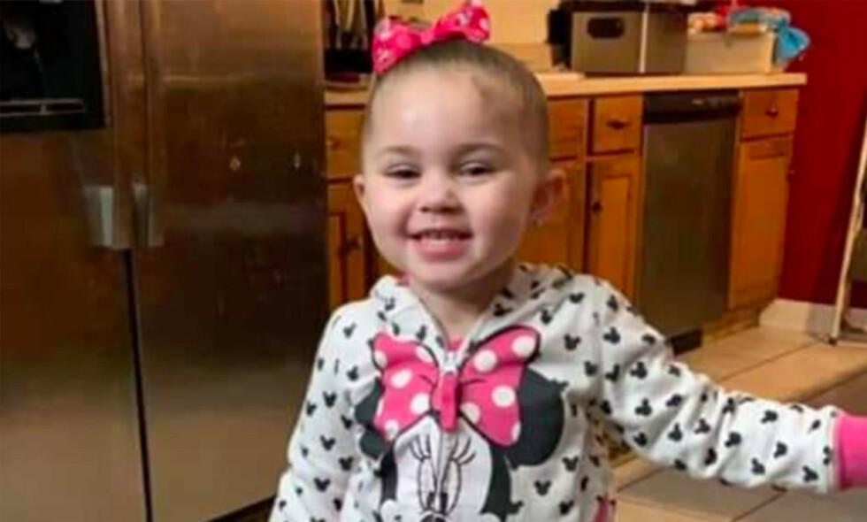 DREPT: Tre år gamle Olivia ble funnet drept i et skogholt i Kansas City forrige fredag. Foto: Kansas City Kansas Police Department