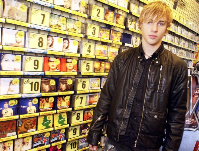 ROCKA: Etter «Idol»-detakelsen ga David Norback Pedersen ut albumet «Wild At Heart». Her avbildet i forbindelse med albumslippet den gang. Foto: NTB Scanpix