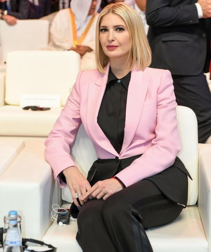 FÅR STØTTE: Ivanka Trumps innlegg blir forsvart av kommunikasjonsrådgiveren ved Det hvite hus. Foto: NTB Scanpix