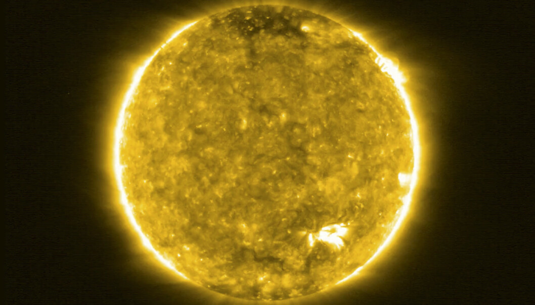 TETT PÅ: Det nye prosjektet tar nærbilder av sola. Foto: NASA / ESA